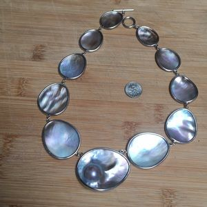 Jewelry - Natural Shell and silver Necklace